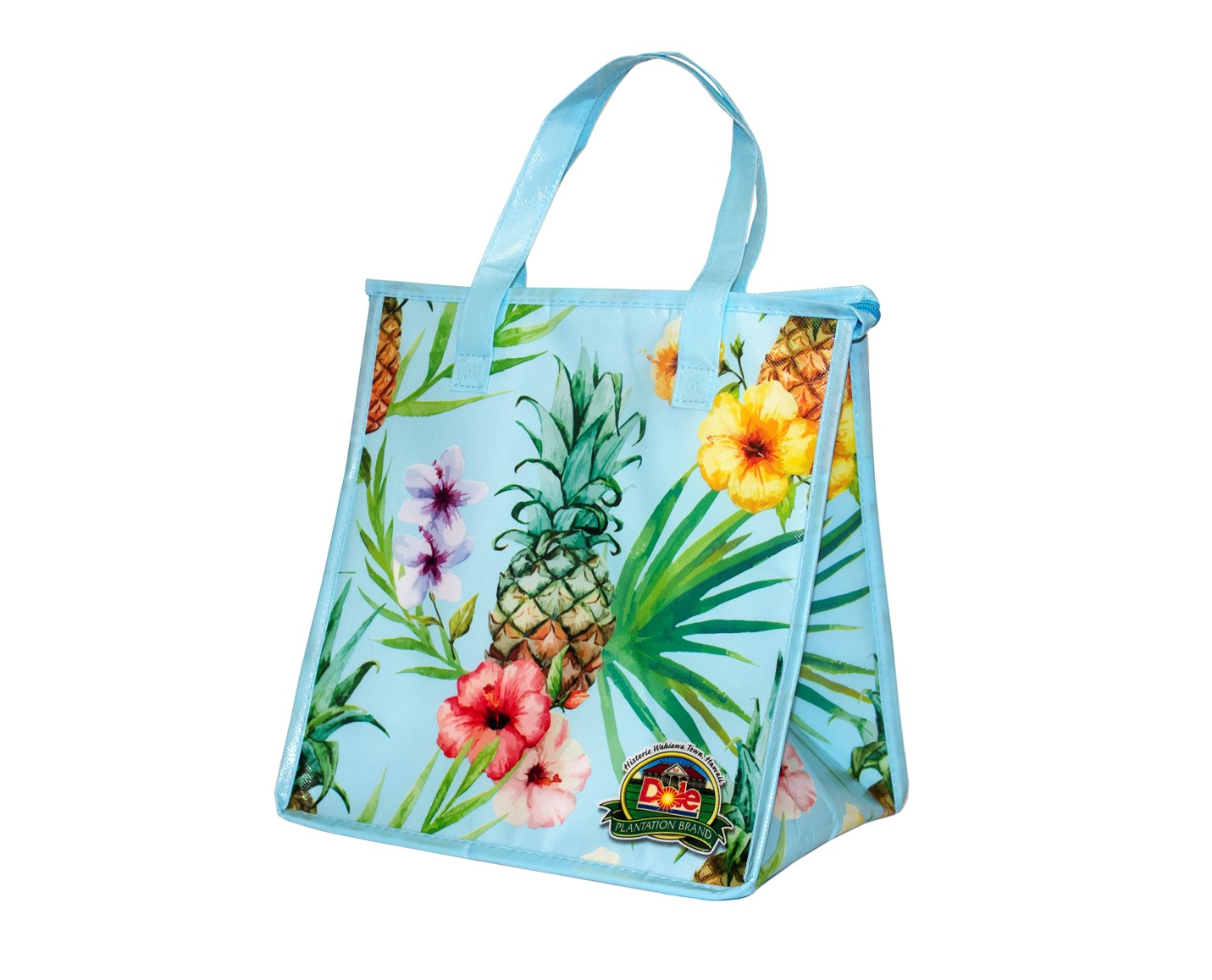 FLORAL PINEAPPLE INSULATED LUNCH BAG