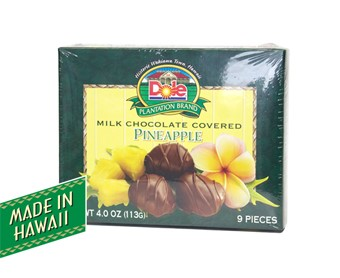 Milk Chocolate Covered Pineapple 4 oz.