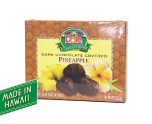 Dark Chocolate Covered Pineapple 4 oz